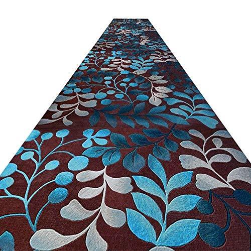 WCS Alfombra de pasillo Corredor Pasillo Pasillo Cocina Alfombra antiincrustante de fibra química, Finalista de boda - Ceremonia Pasillo - Alfombra VIP - Alfombra para eventos, Altura de pila de 6 mm,