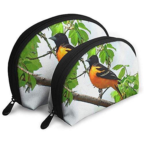 Baltimore Oriole Animal Bird Tragbare Schminktäschchen Kulturbeutel, Tragbare Multifunktionsreisetaschen Kleine Schminktäschchen mit Reißverschluss