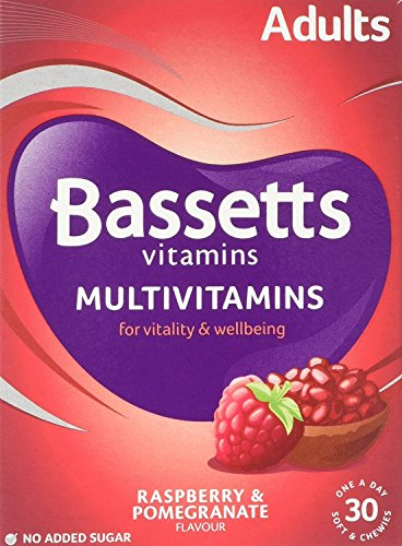 Bassetts Adults Raspberry and Pomegranate Flavour Soft and Chewy Multivitamins - Pack of 5, Total 150 Pastilles