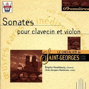 Saint-Georges : Sonates pour clavecin et violon