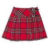 Tartanista - Kilt/Minifalda Escocesa con Correas - 41,9 (16,5') - Royal Stewart - Rojo - EU44 UK16