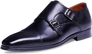 Hommes Moine Chaussures Cuir véritable Boucles Pointues sur la Robe de Chaussure Bout Chaussures d'affaires Grande Taille