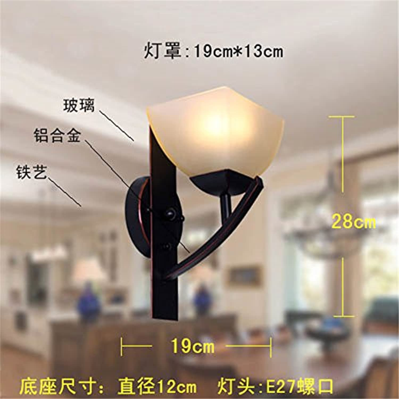 Europische Retro eiserne Wand lampe Wohnzimmer Schlafzimmer Nachttischlampe Spiegel vordere Lampe Korridor Treppe lampe Wandleuchte