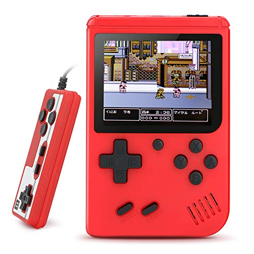 BLANDSTRS Handheld Game Consoles, Retro Mini Game Player with 520 Classic FC Games, Good Present for Kids Boy, Xmas Gift - Red