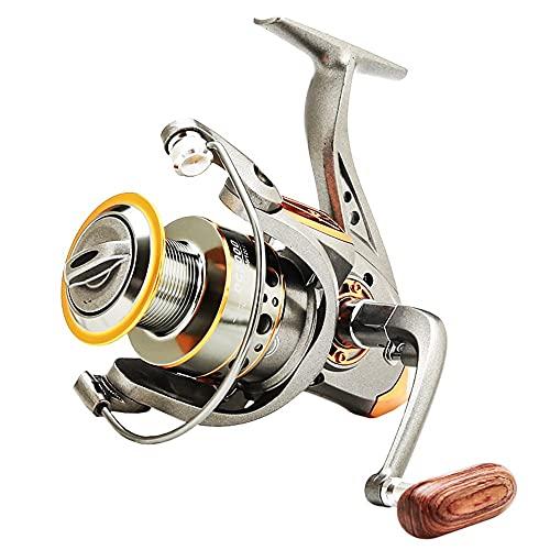 Topteng Carrete de pesca de metal, engranaje de pesca DC2000, color gris