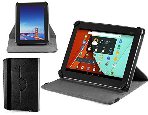 Navitech stilvolles rotierbares Stand Hülle Cover Hülle in Schwarz mit Stylus Pen für das Odys Lux 10 Tablet-PC