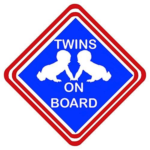Signo de la novedad de la señal impresa de la ventana del coche de los gemelos
