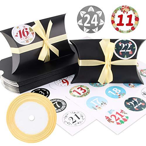 Caja de almohada Caja de regalo, 24 cajas de boda vintage de