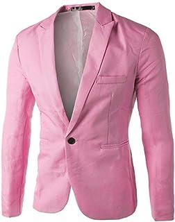 HaiDean Men's Coats Gjkk Charm Casual Mens Fashion Slim Modern Casual Fit One Button Suit Blazer Coat Jacket Business Jacket