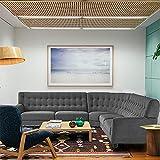 Braxton Andorra 5 Seater Corner Sofa Set for Living Room (Grey Fabric)