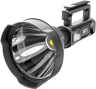 XIXIANDASHA Bright Rechargeable Searchlight handheld LED Flashlight Flashlight with Handle Spotlight 6000 Lumens Ultra-lon...