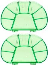 Cxjff 2pcs Portable 8 Lattices Pill Case Container Sealed Pill Storage Box Mini Plastic Case (Green) (Color : Green)