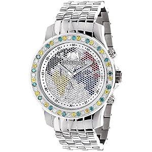 Luxurman Watches Mens Diamond Watch 3.50ct image