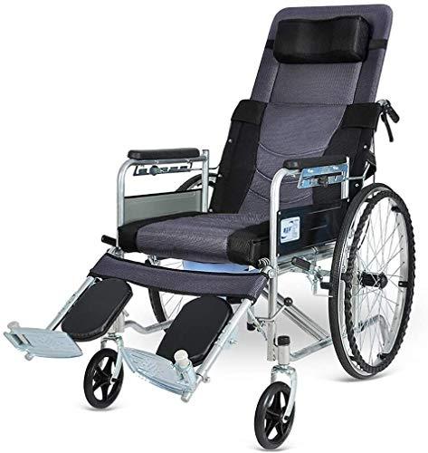 HYL Silla de ruedas plegable Estándar reclinable silla de ruedas, los niños discapacitados de mentira reclinable silla de ruedas, parálisis cerebral en silla de ruedas - Elevación de apoyo for las pie