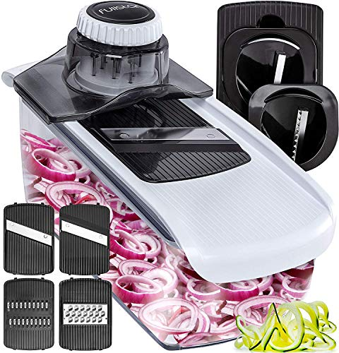 Fullstar Mandoline Slicer Spiralizer Vegetable Slicer  Cheese Slicer Food Slicer 6in1 Vegetable Spiralizer Potato Slicer Zoodle Maker BPAFree Veggie Spiralizer Slicers for Fruits and Vegetables