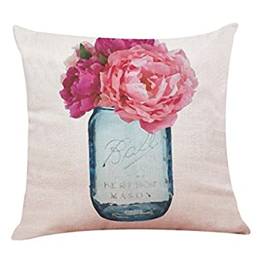 Pillow Case, Howstar Decorative Cushion Pillow Cover Square Throw Pillowcase for Sofa 18 x 18 Inch (C)
