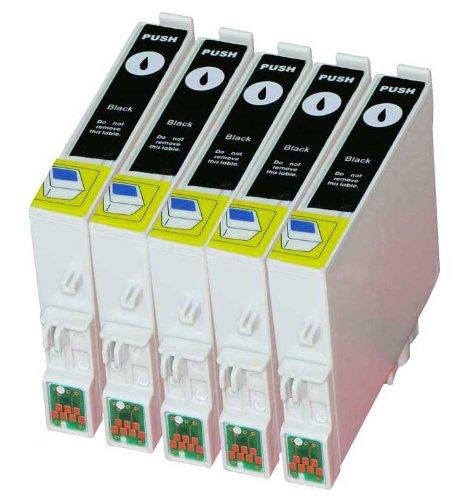Premium 5Pack cartuchos de tinta para T de 0481, T 0481Epson Stylus Photo R200, R210, R220, R300, R300M, R310, R320, R340, RX300, RX500, RX600, RX620, RX640