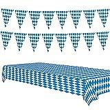 Oktoberfest Table Cloth Pennant Decorations,...
