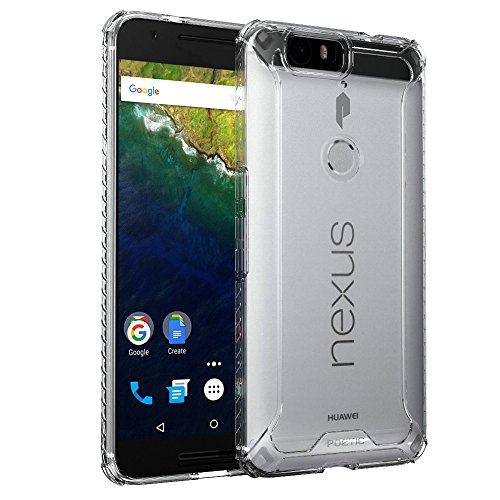 Nexus 6P Case, POETIC Affinity Series Premium Thin/No Bulk/Protection Where its Needed/Clear/Dual Material Protective Bumper Case for Huawei Nexus 6P (2015) Frosted Clear/Clear