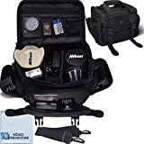 Deluxe Large Digital Camera / Video Padded Carrying Bag / Case for Nikon, Sony, Pentax, Olympus Panasonic,...