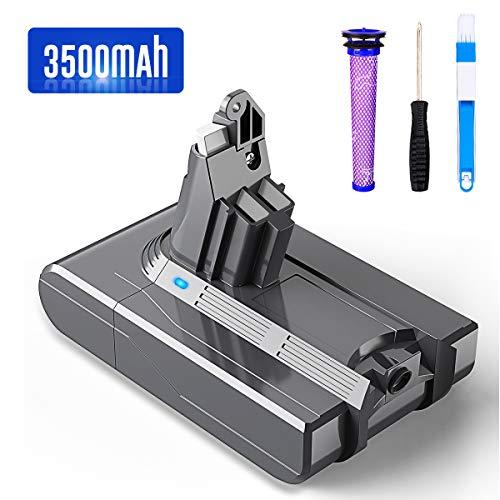 bon comparatif Batterie Dyson V6 DC59 DC58 DC58 DC61 DC62 Tier DC72 DC74 BuTure 3500mAh pour aspirateur à main… un avis de 2021