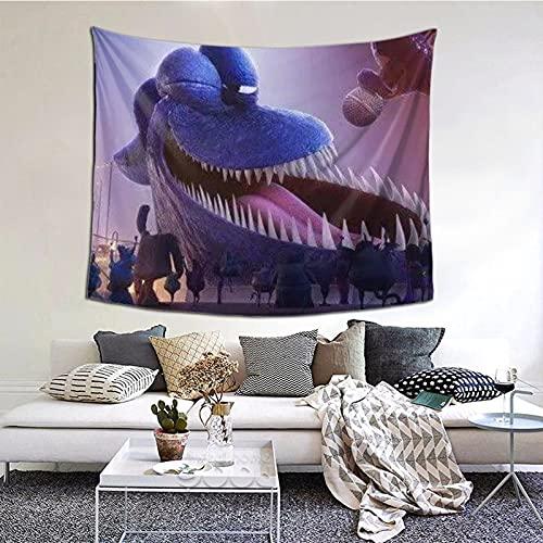 Tapiz gigante de la película de Octopus Mar M-o-ns-ter para decoración de pared, manta para sala de estar, dormitorio, dormitorio 156 x 150 cm