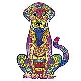 Puzzle de madera para adultos y niños, piezas de puzle en 3D con forma de animales de colores, puzle para adultos, forma única, 300 piezas (L, 26 x 38,2 cm)