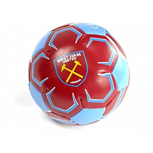 West Ham FC - Balón de fútbol mini oficial de West Ham FC (Mini) (Granate/azul)