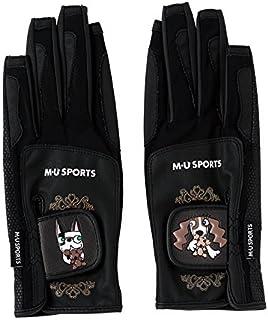 MU SPORTS(エム ユースポーツ) ゴルフグローブ 2017SS 2017SSシリーズ グローブ ブラック Sサイズ 703V1804  703V1804
