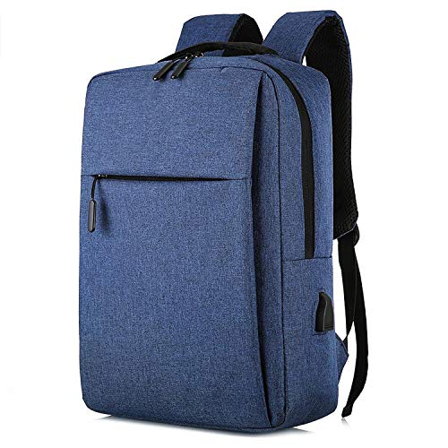 Unycos - Laptop Backpack - Waterproof Backpack with USB Port for Men or Women (Blue)