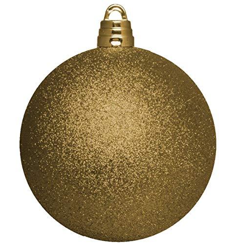15cm Giant glitter oro bauble - Decorazioni di Natale - albero di guarnizioni.