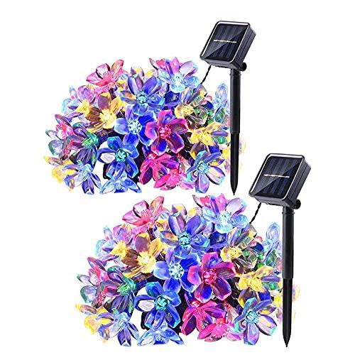 Yirunfa Cadena de Luz Solar 7M 50 LED 8 Modos de Iluminación, Impermeable Guirnalda Luminosa Cadena de Luces Solar para Patio, Jardín, Terraza y Exteriores e Interiores (Vistoso)