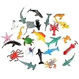 Zerodis 24 Unids / Set Colorido Mar Animales Juguete Interesante Niños Niños Agua Juego Modelo Animal Marino Juguete