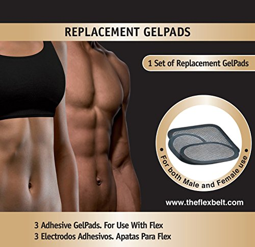 THE FLEX BELT GEL PADS for Abdominal Toning System (one set)