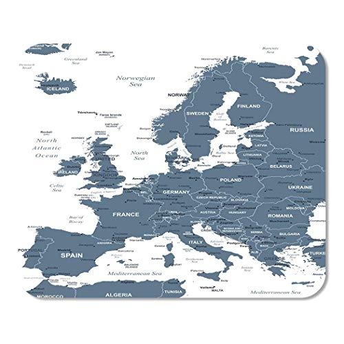 Mousepad Computadora Bloc de Notas Oficina Gris Austria Europa Mapa Detallado Bélgica Ciudades Capitales Ciudad Hogar Escuela Jugador Jugador Computadora Trabajador Pulgada