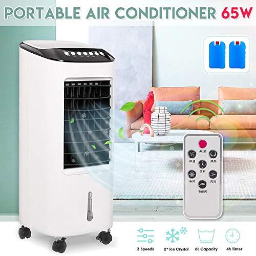 Acondicionador de Aire portátil más Nuevo Acondicionador 65W Humidificador Piso 220V Dormitorio Control Remoto Refrigerador de Aire del hogar VentiladorTipo mecánico