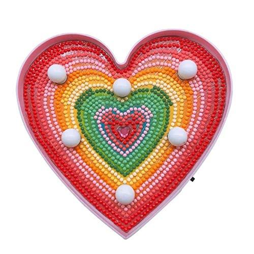 Yhhzw Diy Love Rainbow Luz De Modelado De Pintura De Diamante En Forma Especial Taladro Completo Lámpara Led Luz De Noche Decoración Del Hogar Tamaño 153 × 150 Mm