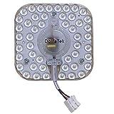 DollaTek Lámpara de techo LED cuadrada de 220 V, 24 W, 5600 K, con esquinas redondeadas y placa de repuesto