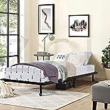 HOMEMEKE FURNITURE Ligero y lujoso armazón de cama de hierro vivo, plegable, no ocupa espacio, es conveniente para el almacenamiento, plataforma de metal de alta calidad fácil de instalar, listones...