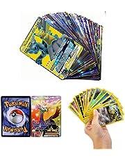 zhybac 100 Pokemon Card,Tarjetas de Pokemon,100 Piezas Pokemon Cartas, Pokemon Trading Cards, Juego de Cartas, Cartas Coleccionables,Trainer Cartas, Cartas Pokémon Game Battle Card, Regalos para niños
