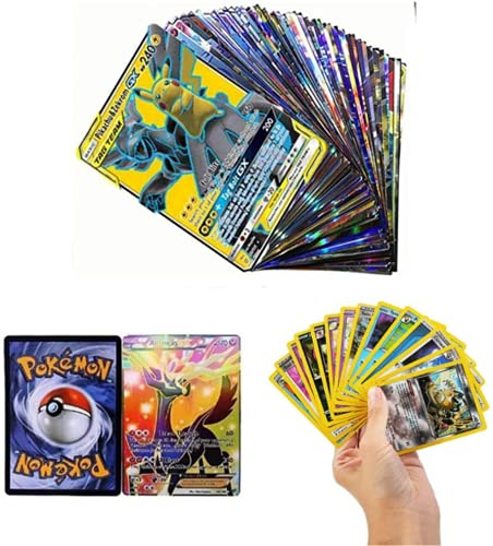 Zhybac Poke Card Trading Card 100 Tarjetas GX Completas, 100 Tarjetas, Divertidas Tarjetas Flash,Tarjetas GX Tag Team,Carta...