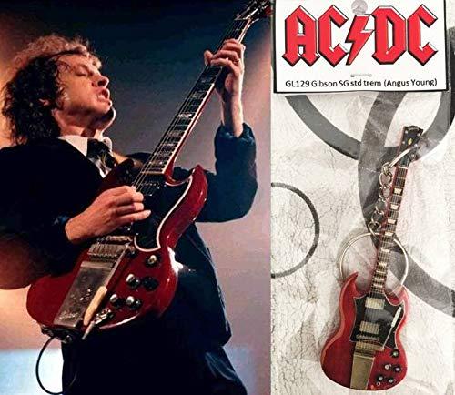 Schlüsselanhänger Gibson Sg Cherry Trem Angus Young AcDc