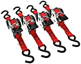 """Erickson 04418 Pro Series Red 1"""" x 10' Retractable Ratcheting Tie-Down Strap,"""