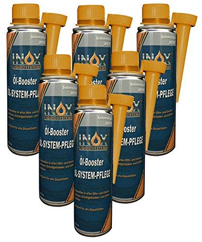 INOX® Öl Booster, Öl Systempflege Additiv für KFZ - 6 x 250 ml