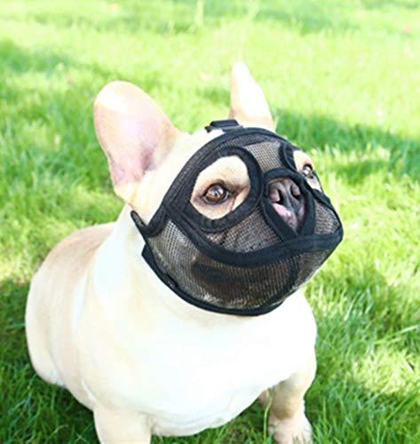 PETEMOO Maulkorb für Hunde mit abgeflachter Schnauze-verstellbar, atmungsaktiv: Englische Bulldogge, Französische Bulldogge, Pekingese, Shih-Tzu, Mops, auch für Katzen geeignet.