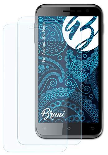 Bruni Schutzfolie kompatibel mit Archos 50c Neon Folie, glasklare Displayschutzfolie (2X)