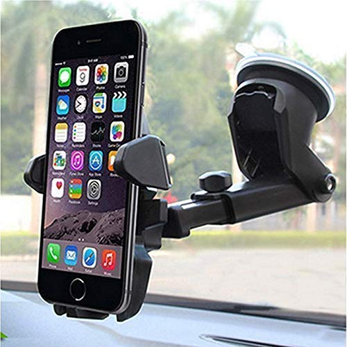 LXCN® 360° Rotation Mobile Holder for Car, Dashboard Cell Phone Holder, Smartphone Holder Fit for All Smartphones- (Black)
