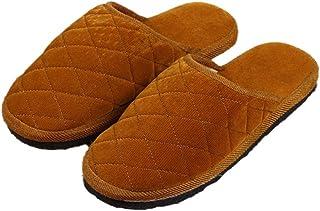 BLACK ELL Winter indoor home katoenen slippers, platte antislip fluwelen schoenen-4_39, Comfortabele pluche huisschoenen, ...