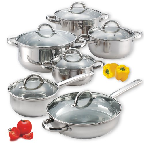 Cook N Home 12-Piece Stainless Steel
