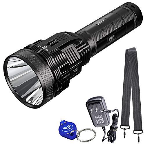NITECORE TM39 5200 Lumen 1640 Yard Long Throw Rechargeable Flashlight, with LumenTac Keychain flashlight